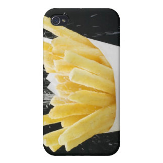 Sprinkling salt on chips in paper cone iPhone 4/4S cases