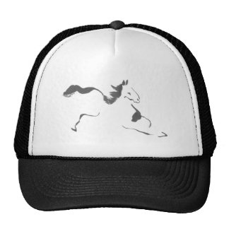 Sprint, a Galloping Horse, sumi-e Trucker Hat