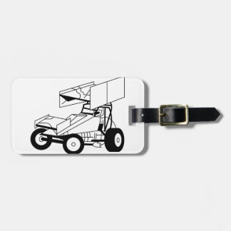 Sprint Car Outline Luggage Tag
