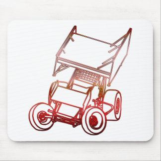 Sprint Car Skewed/Sunset Mouse Mat