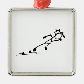 Sprinter Stickman Track and Field Christmas Ornament