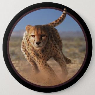 Sprinting Cheetah Artwork 6 Cm Round Badge