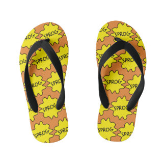 Sprog, Baby, Child, Funny British Slang Flipflops Flip Flops
