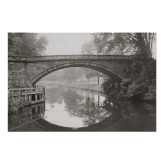 Sprotbrough bridge, River Don vintage photo Poster