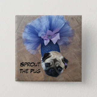 Sprout in a Tutu 15 Cm Square Badge