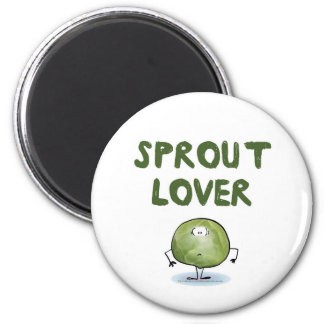 SPROUT LOVER 6 CM ROUND MAGNET