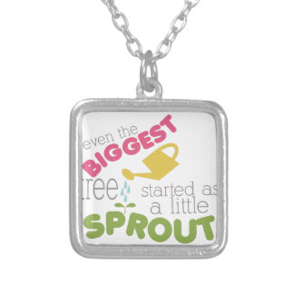 Sprout Square Pendant Necklace