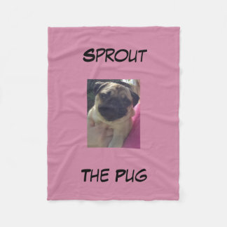 Sprout The Pug Blanket