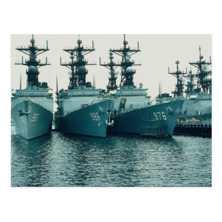Spruance class destroyers, NAV STA, San Diego, Cal Postcard