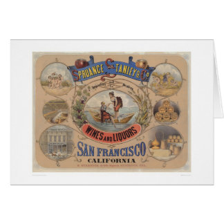 Spruance Stanley & Co., Wines & Liquors, SF (1305) Greeting Card