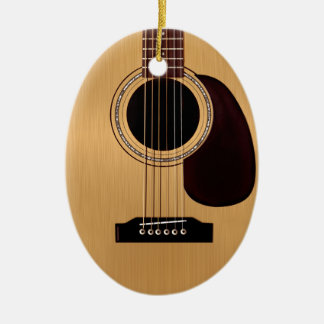 Spruce Top Acoustic Guitar Christmas Ornament