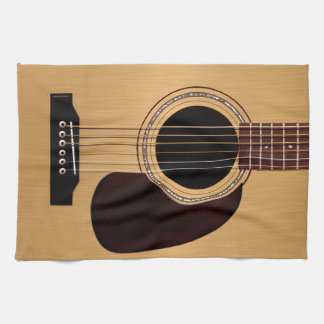 Spruce Top Acoustic Guitar Tea Towel