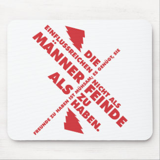 Spruch_Männer_Feinde_mono.png Mouse Pad