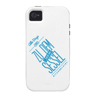 Spruch_Sessel_mono png iPhone 4 Case