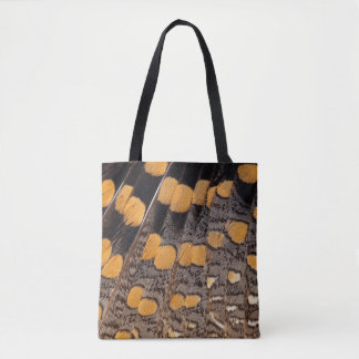 Sptted Snipe Feather Design Tote Bag