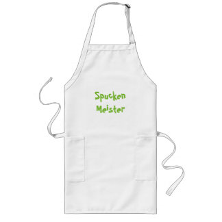 Spucken Meister , Spitting Champion in German Long Apron