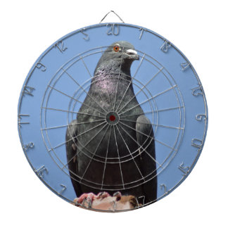 Spud the pigeon dartboard