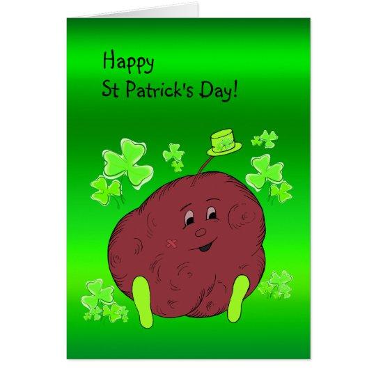 Spudman and Shamrock Paddy St Patrick's Day Card