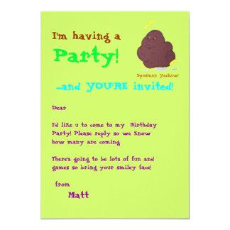 Spudman Yeehaw! party invite 13 Cm X 18 Cm Invitation Card