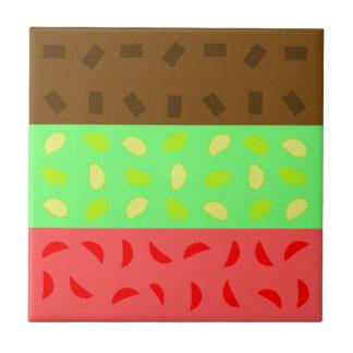 Spumoni Cookie Small Square Tile
