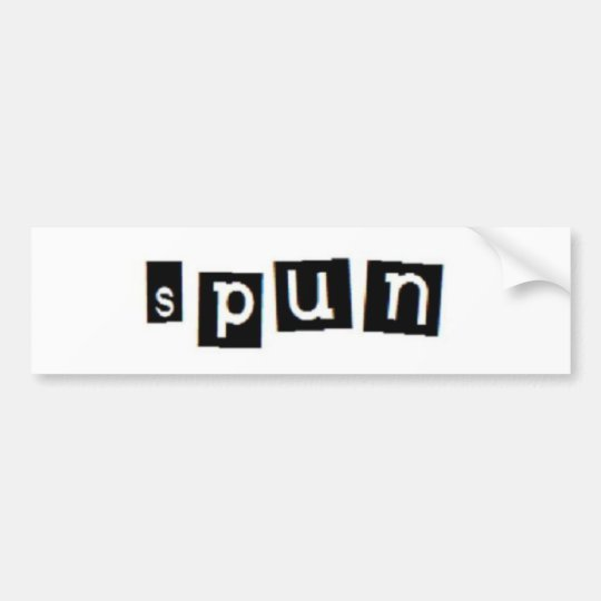 SPUN block logo bumper sticker