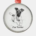 Spunky Fox Terrier Ornament