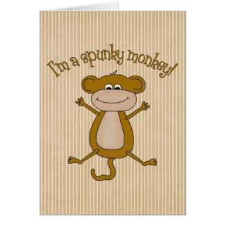 Spunky Monkey Card