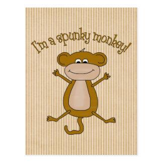 Spunky Monkey Postcard