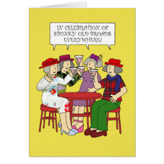 Spunky old broads Month February Card