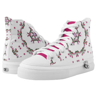 Spunky Sprigs Florals Printed Shoes