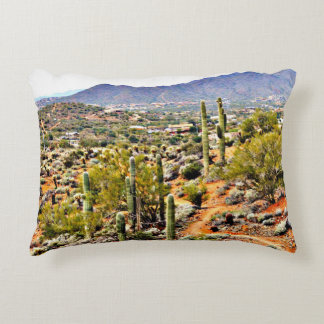 Spur Cross Landscape Throw Pillow