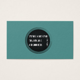 Spur One Another On - Hebrews Business Card