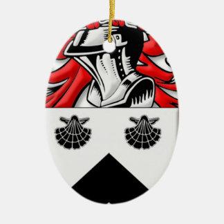 Spurgeon Coat of Arms Ceramic Oval Decoration