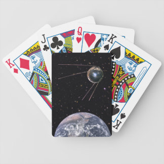 Sputnik 1 Earth Satellite Bicycle Playing Cards