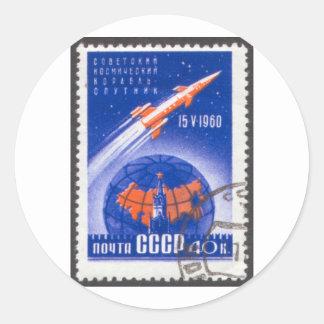 Sputnik 4 May 15 1960 Round Sticker