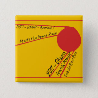 Sputnik Moment 15 Cm Square Badge