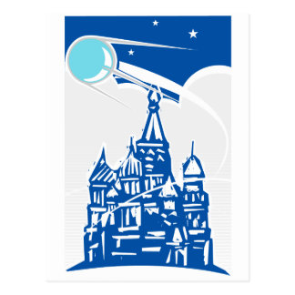 Sputnik over Kremlin Postcard