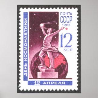 Sputnik Space Exploration Monument 1965 Poster