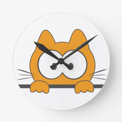Spy cat clock