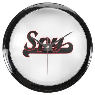 Spy Classic Job Design Fish Tank Clock