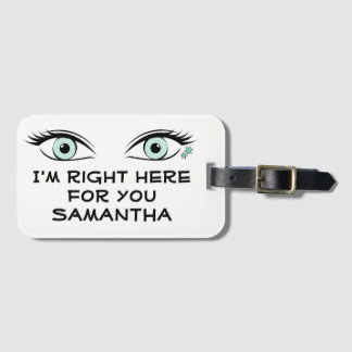 Spying Green Eyes and Star Tattoos ID Luggage Tag
