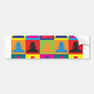 Spying Pop Art Bumper Sticker