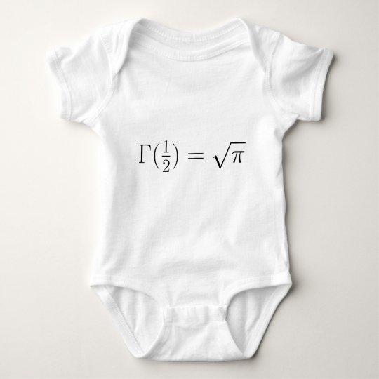 Sqrt(pi) from Gamma function Baby Bodysuit