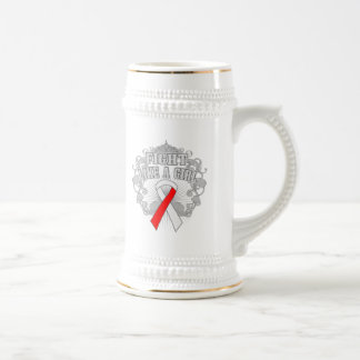 Squamous Cell Carcinoma Fight Like A Girl Fleurish Beer Steins