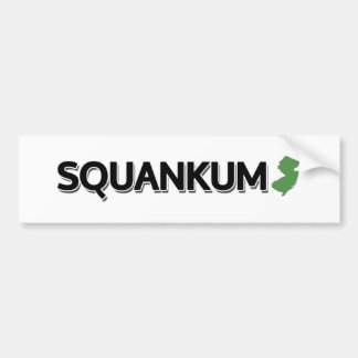 Squankum New Jersey Bumper Stickers