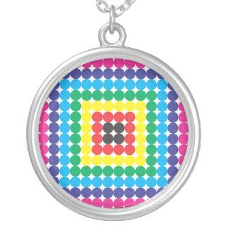 squar swatch round pendant necklace