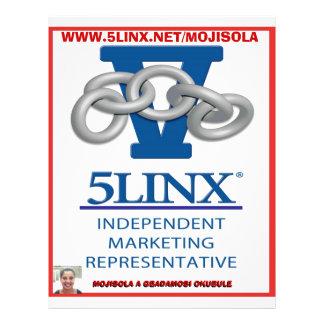 SQUARE  5 linx logo by mojisola a gbadamosi 45.... 21.5 Cm X 28 Cm Flyer