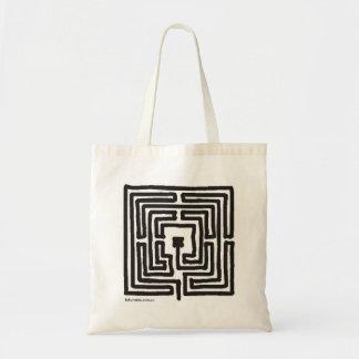 square 7-circuit labyrinth budget tote bag