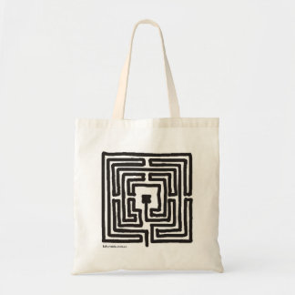 square 7-circuit labyrinth budget tote bag