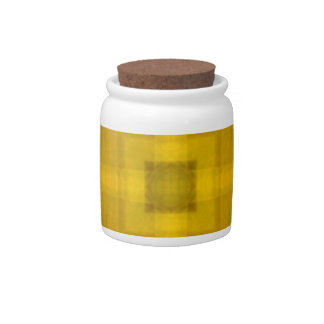 Square abstract yellow pattern candy jars